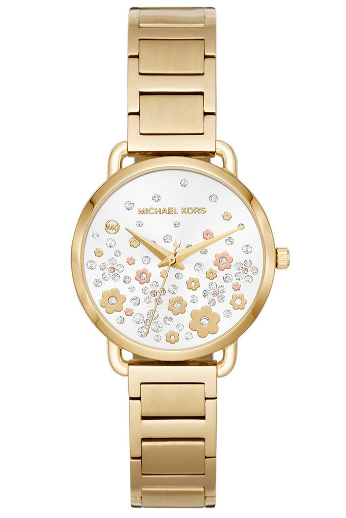 Michael Kors Portia Crystals Gold Stainless Steel Bracelet MK3840