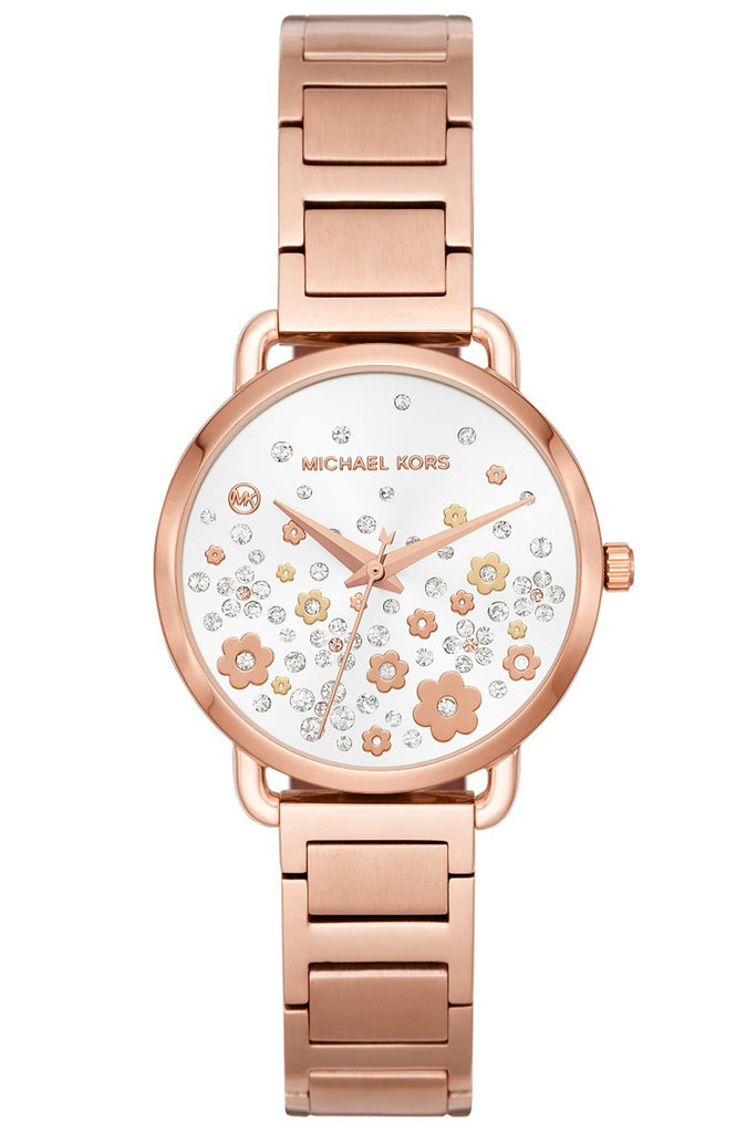 Michael Kors Portia Crystals Rose Gold Stainless Steel Bracelet MK3841