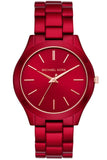 Michael Kors Slim Runway Red Stainless Steel Bracelet MK3895