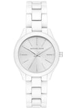 Michael Kors Slim Runway Crystals White Stainless Steel Bracelet MK3908