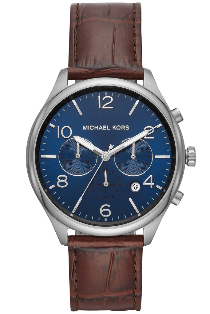 Michael Kors Merrick Brown Leather Strap MK8636