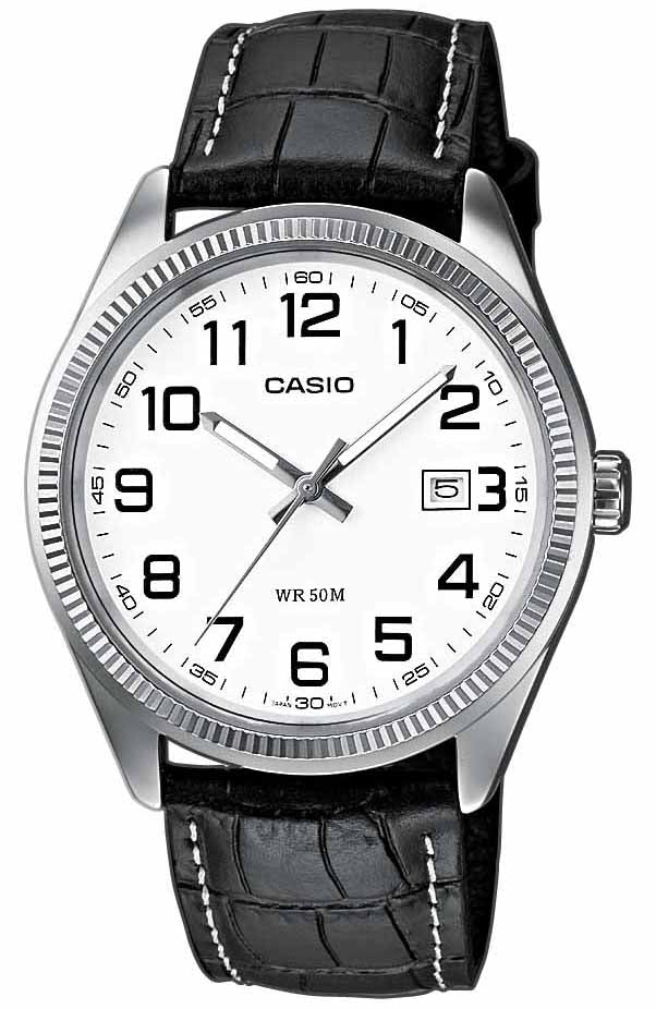 CASIO Collection Brown Leather Strap MTP-1302PL-7BVEF