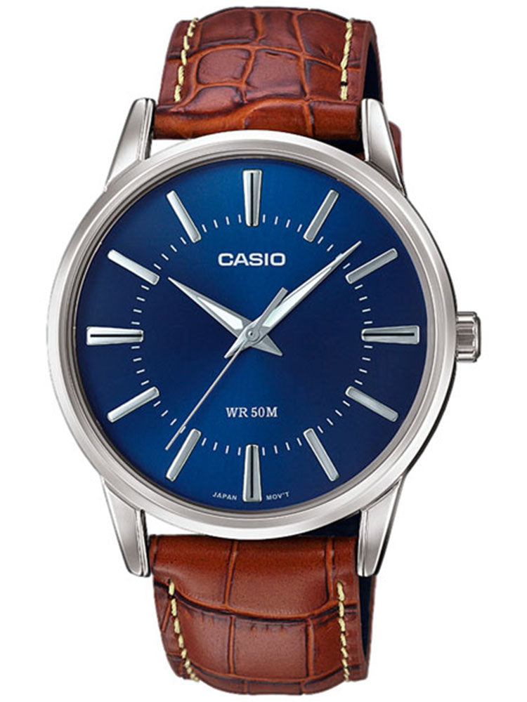CASIO Collection Brown Leather Strap MTP-1303PL-2AVEF