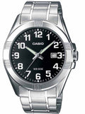 CASIO Collection Stainless Steel Bracelet Black Dial MTP-1308PD-1BVEF