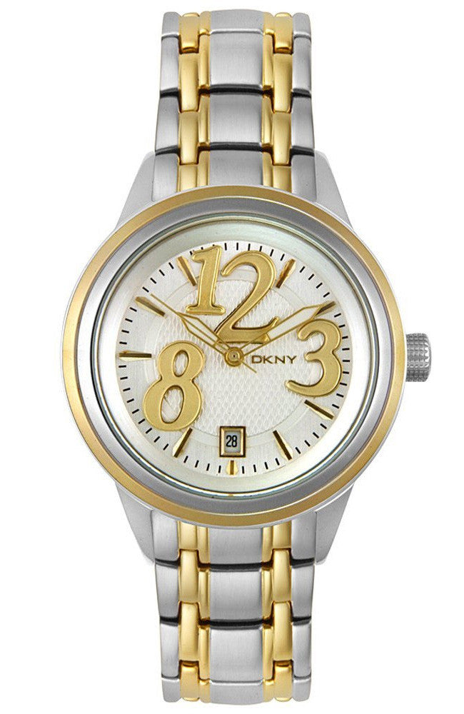 DKNY Ladies two tone stainless steel bracelet NY4369