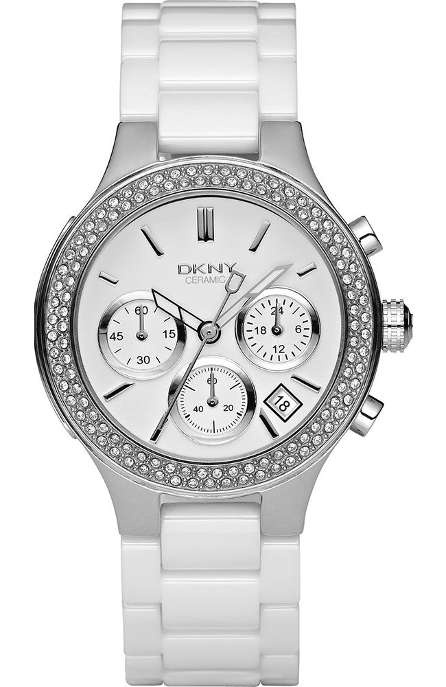 DKNY LADIES' CERAMIC CHRONOGRAPH WATCH NY4985