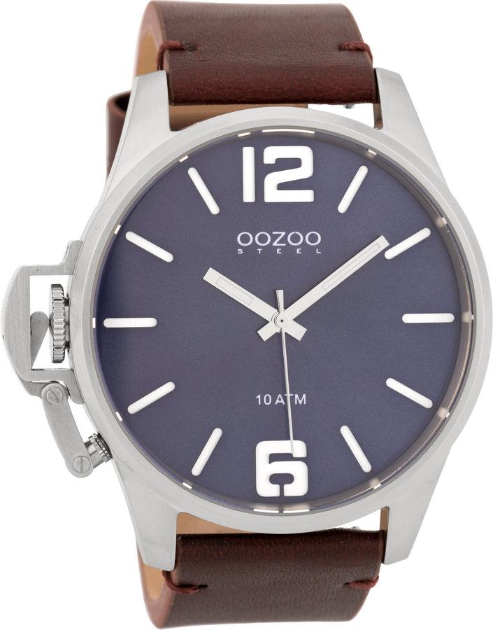 OOZOO Steel Brown Leather Strap OSGR13
