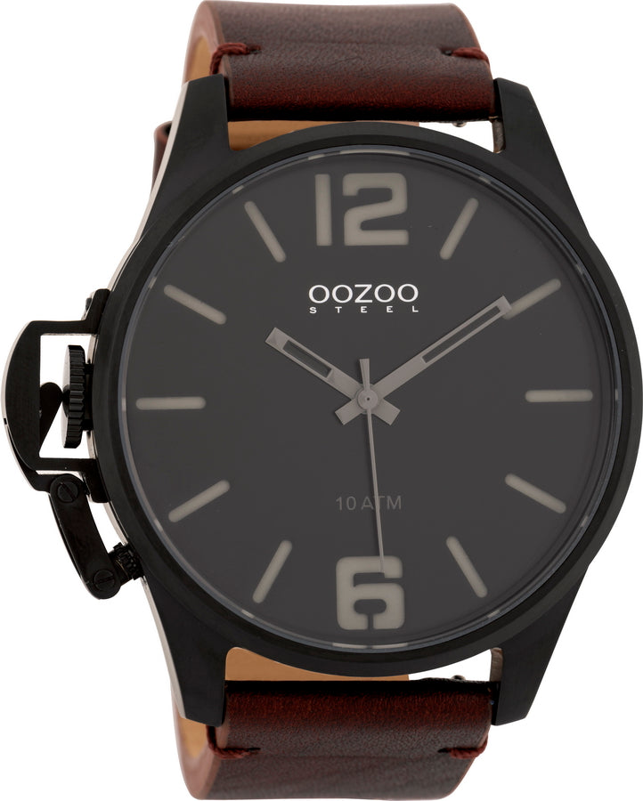 OOZOO Steel Brown Leather Strap OSGR19