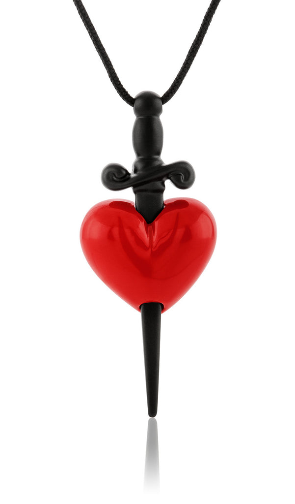 HONOR BP114 Love Hurts Pendant από ορείχαλκο (red-black)