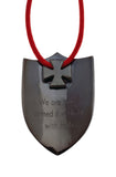 HONOR SP15 CROSS SHIELD PENDANT από ορείχαλκο (ruthenium plated, red and white enamel)