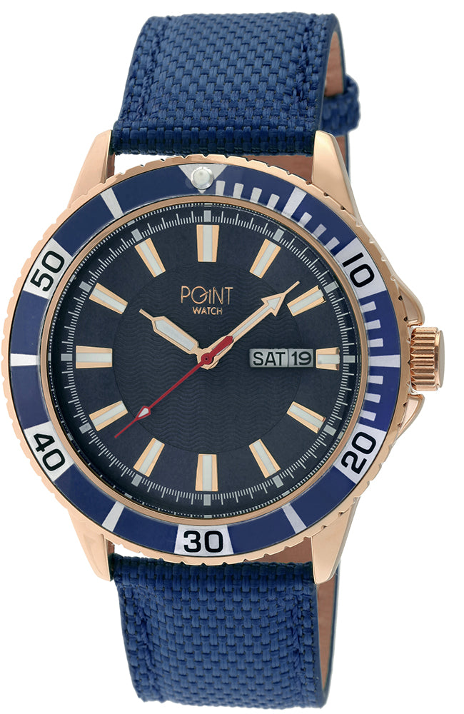 POINTWATCH Poseidon Blue Leather Strap SK34
