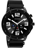 OOZOO Smartwatch black stainless steel bracelet Q00309