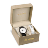 TRUSSARDI T-Light Black Leather Strap Gift Set R2451127012