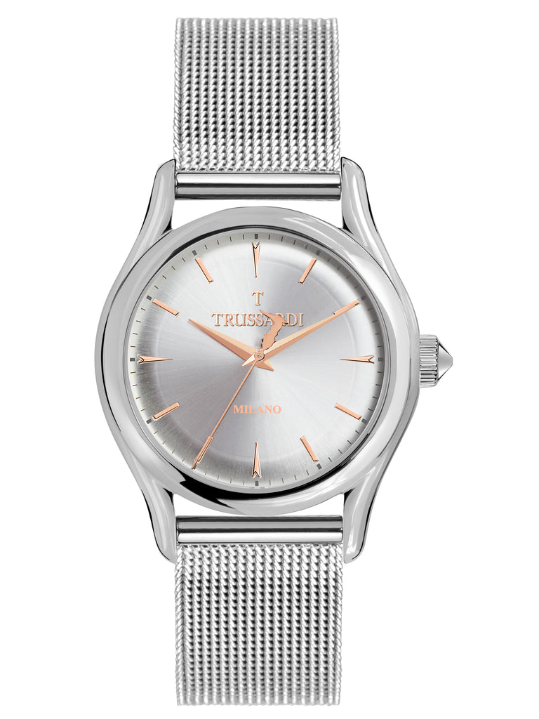 TRUSSARDI T-Light Silver Stainless Steel Bracelet R2453127003