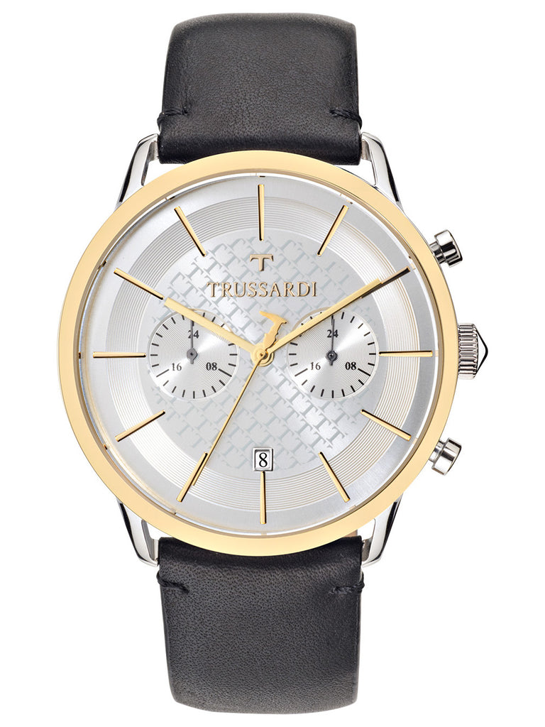 TRUSSARDI Vintage Black Leather Strap R2471616003