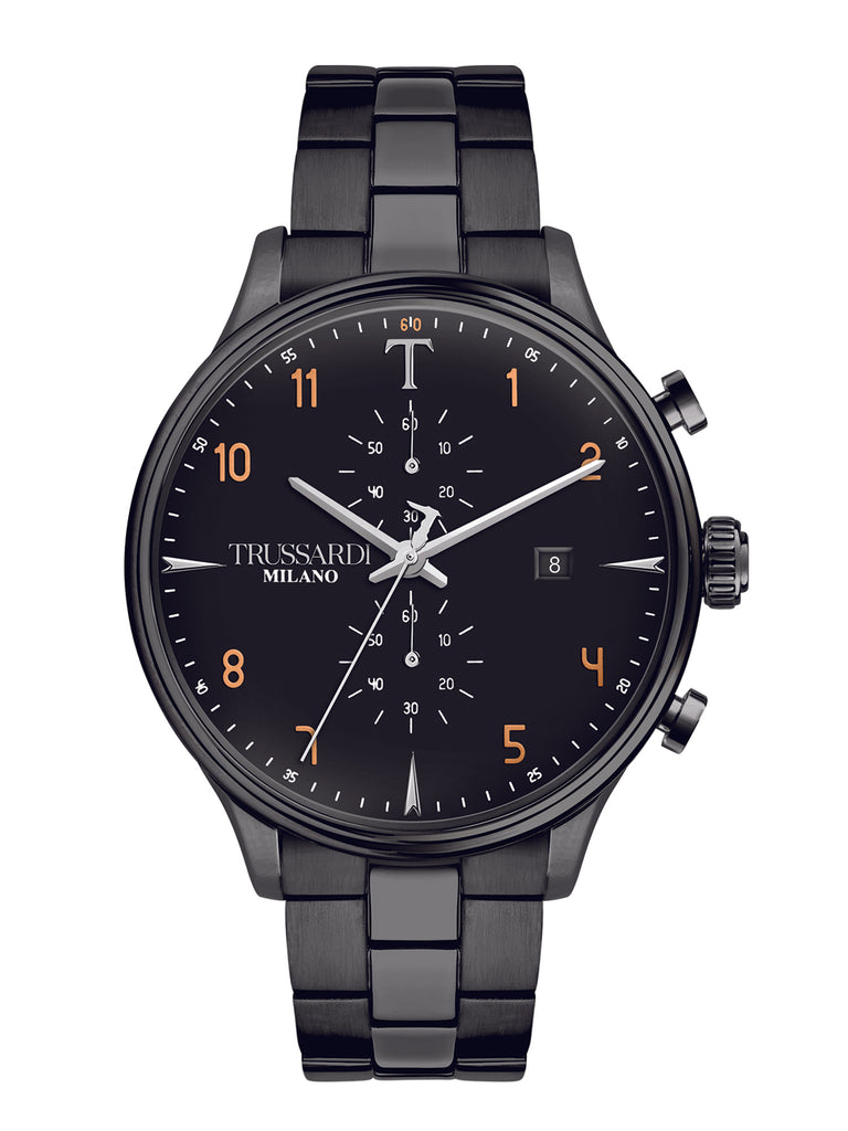 TRUSSARDI T-Complicity Black Stainless Steel Chronograph R2473630001