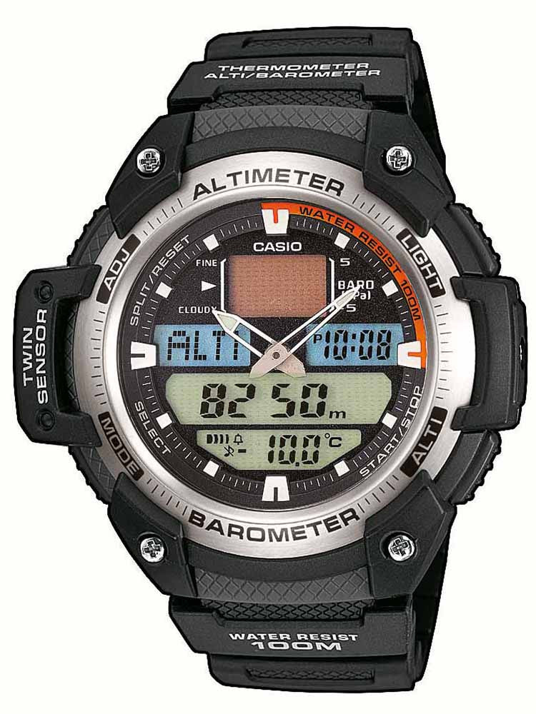 CASIO Collection Sports Gear Black Resin Strap SGW-400H-1BV