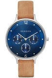 SKAGEN Anita Multifunction Brown Leather Strap SKW2310