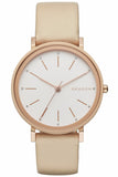 SKAGEN Hald Beige Leather Strap SKW2489