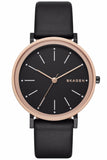 SKAGEN Hald Black Leather Strap SKW2490