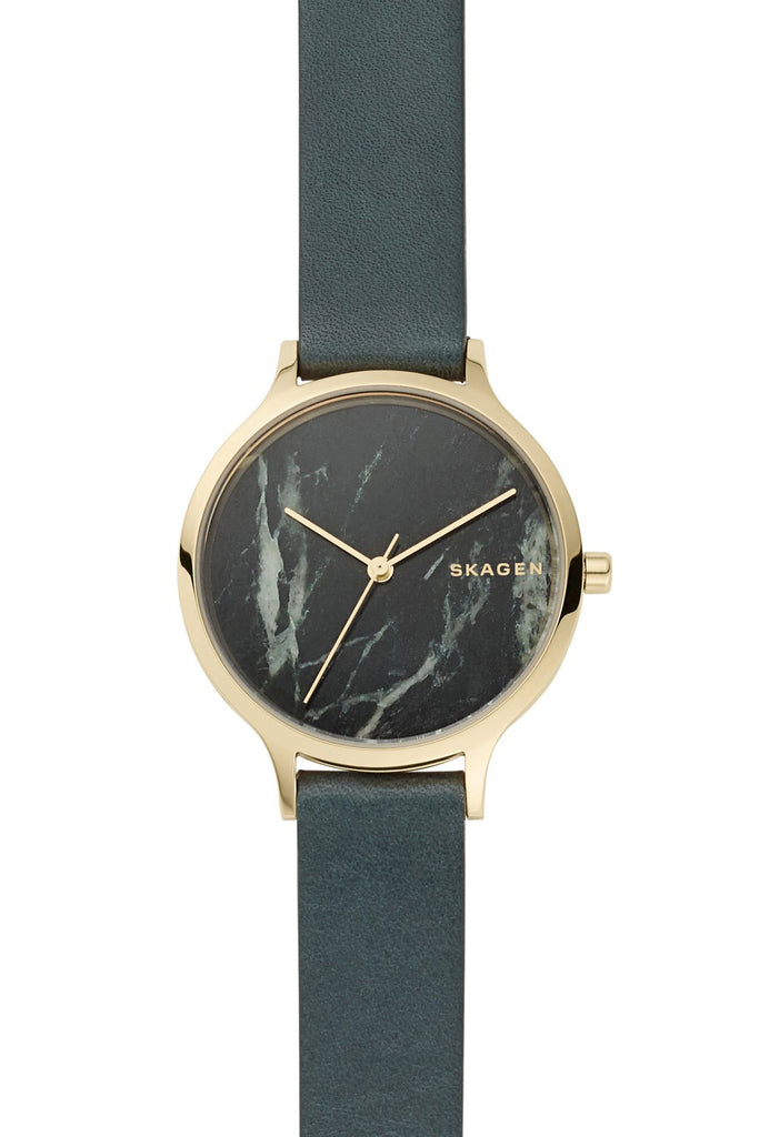 SKAGEN Anita Green Leather Strap SKW2720