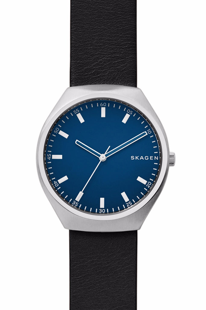 SKAGEN Grenen Black Leather Strap SKW6385