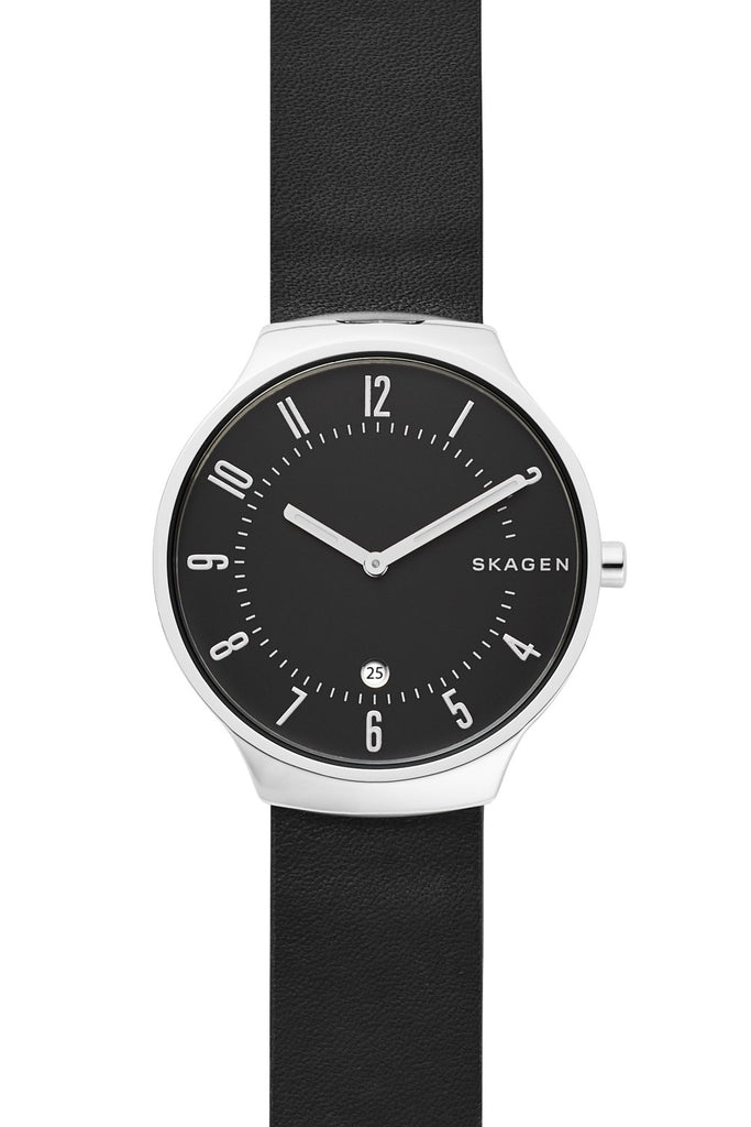 SKAGEN Grenen Black Leather Strap SKW6459