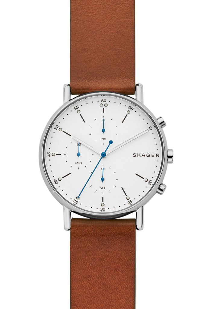 SKAGEN Signatur Brown Leather Chronograph SKW6462