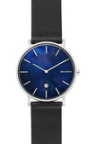 SKAGEN Hagen Black Leather Strap SKW6471