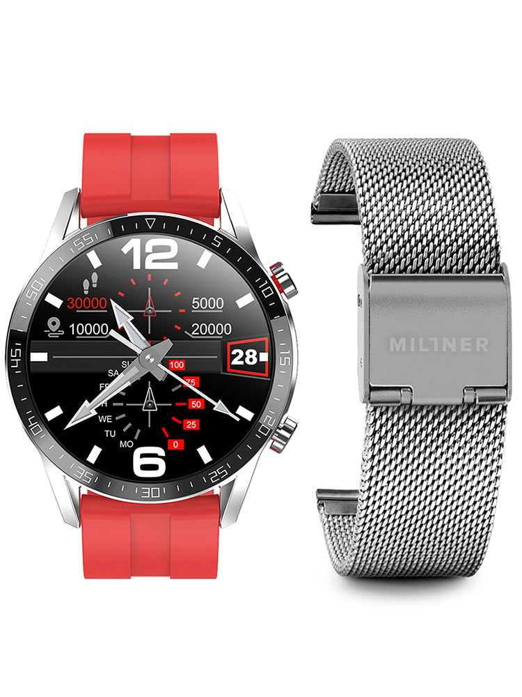 Millner Amazon Silver & Red Set WT04-0010