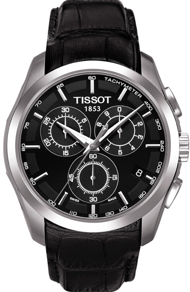 TISSOT COUTURIER Black Leather Chronograph T0356171605100