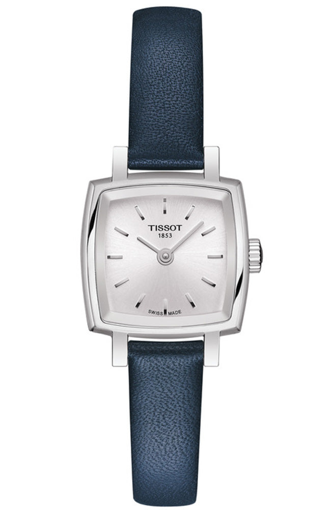 TISSOT Lovely Square Blue Leather Strap T0581091603100