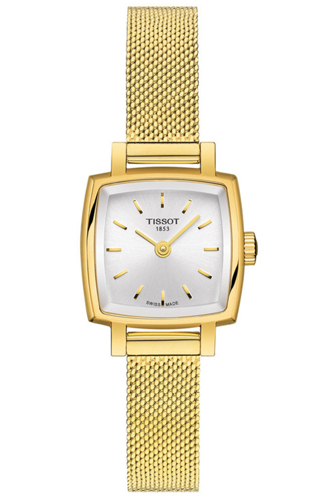 TISSOT Lovely Square Gold Stainless Steel Bracelet T0581093303100