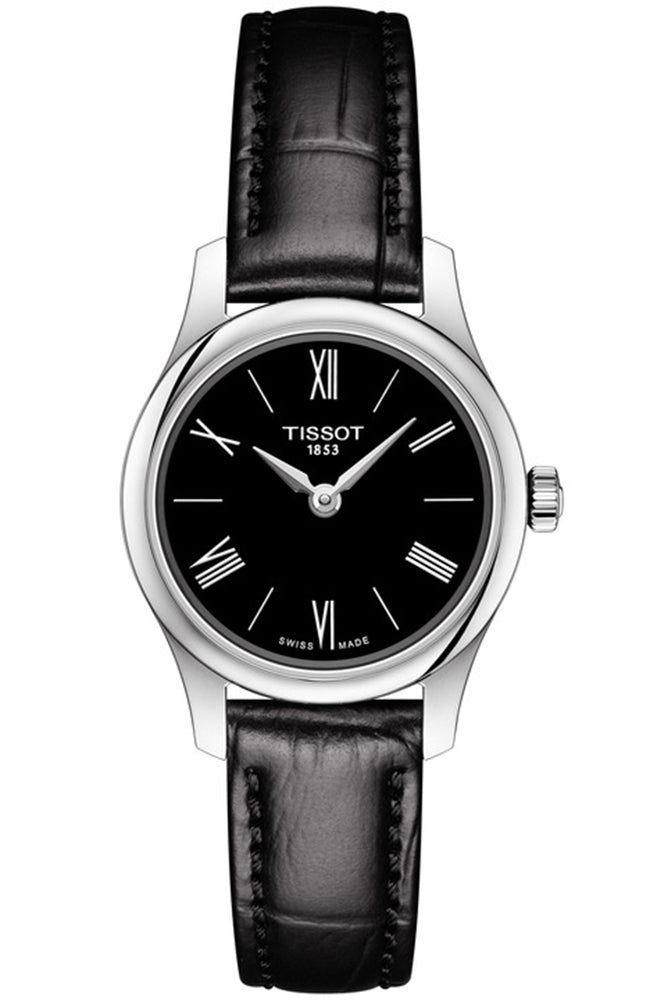 TISSOT TRADITION BLACK LEATHER STRAP T0630091605800