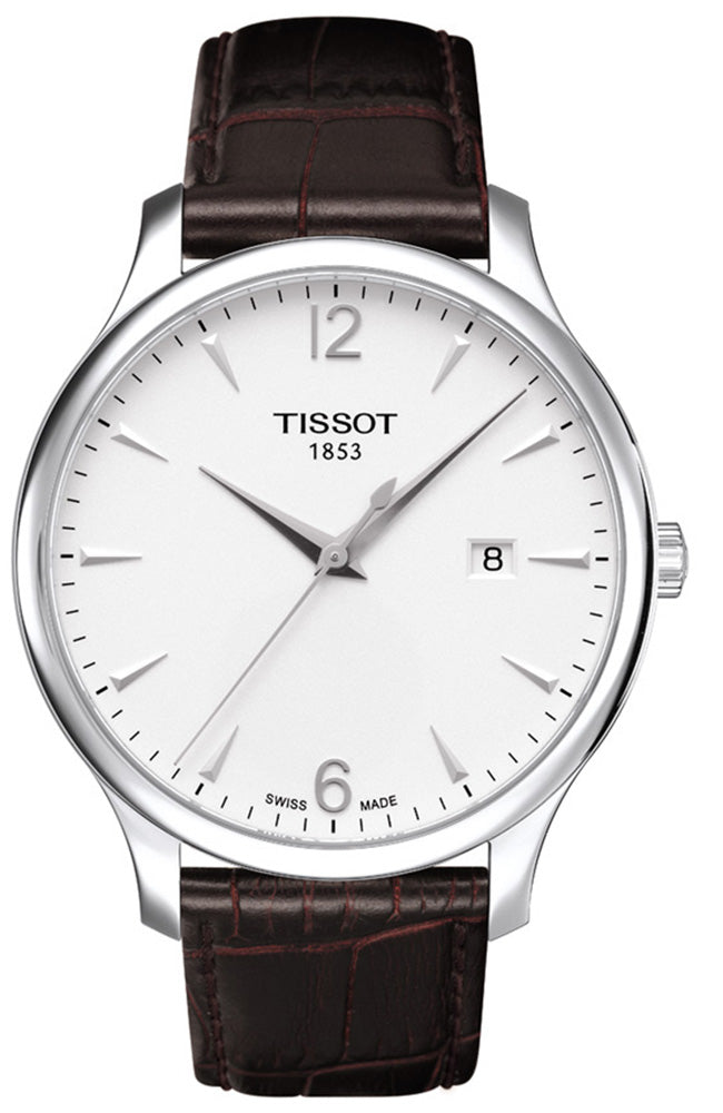 TISSOT TRADITION BROWN LEATHER STRAP T0636101603700