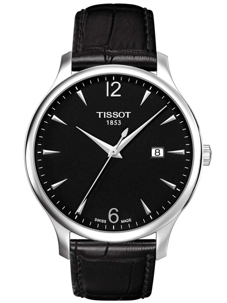 TISSOT Tradition Gent Black Leather Strap T0636101605700