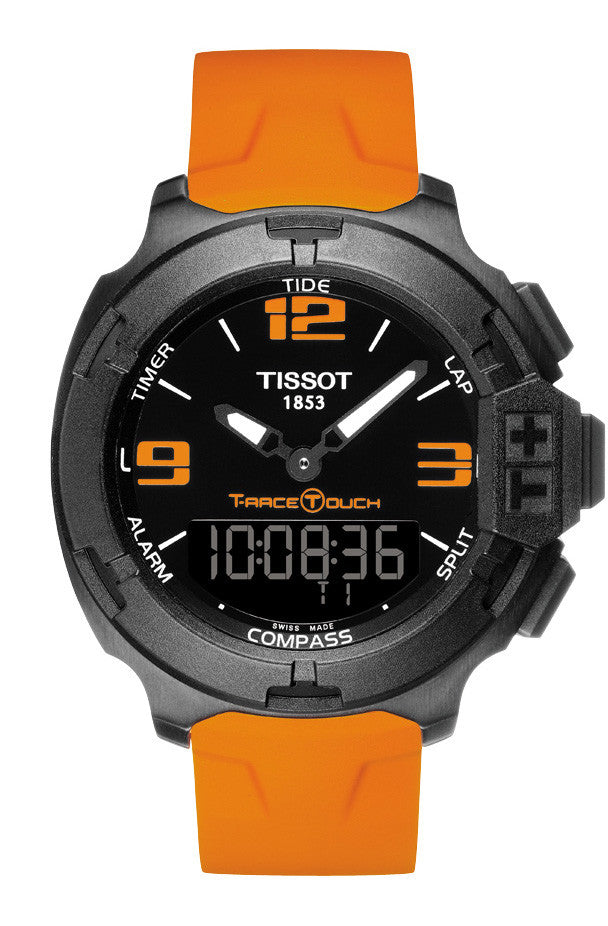 TISSOT T-Race TOUCH Orange Rubber Strap T0814209705702