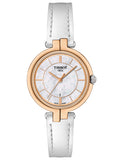 TISSOT FLAMINGO White Leather Strap T0942102611101