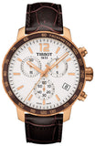 TISSOT QUICKSTER CHRONOGRAPH BROWN LEATHER STRAP T0954173603700