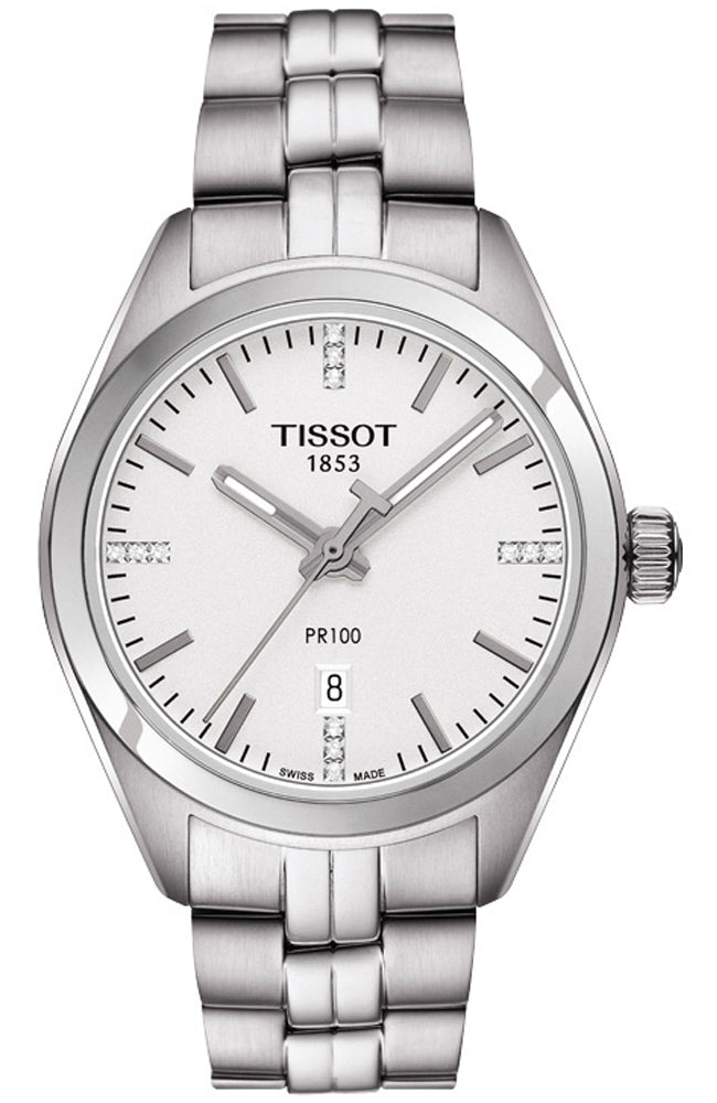 TISSOT PR100 Lady Diamonds Stainless Steel Bracelet T1012101103600