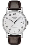 TISSOT EVERYTIME SWISSMATIC BLACK LEATHER STRAP T1094071603200