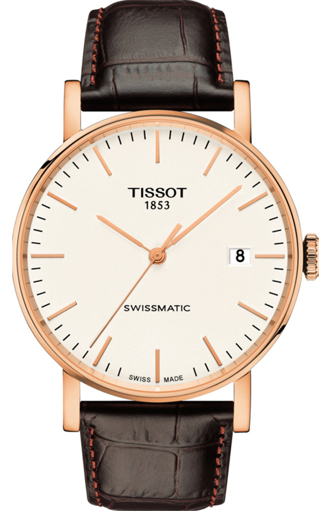 TISSOT EVERYTIME SWISSMATIC BROWN LEATHER STRAP T1094073603100