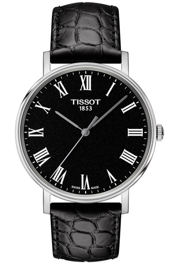 TISSOT Everytime Black Leather Strap T1094101605300