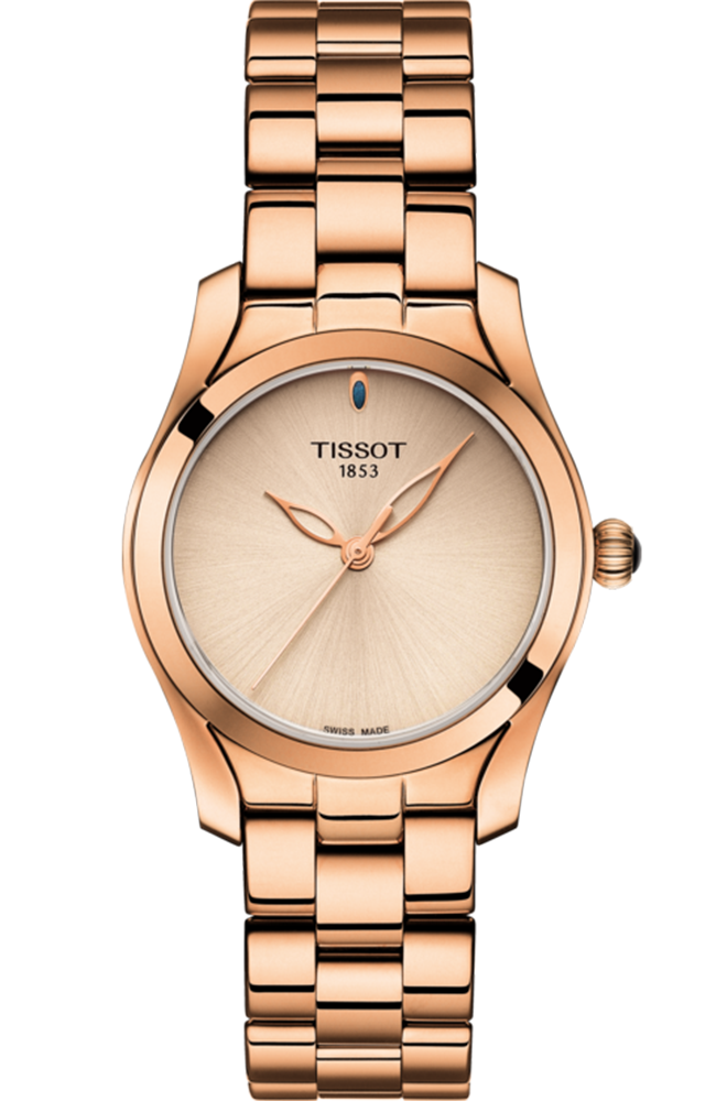TISSOT T-WAVE LADY ROSE GOLD STAINLESS STEEL BRACELET T1122103345100