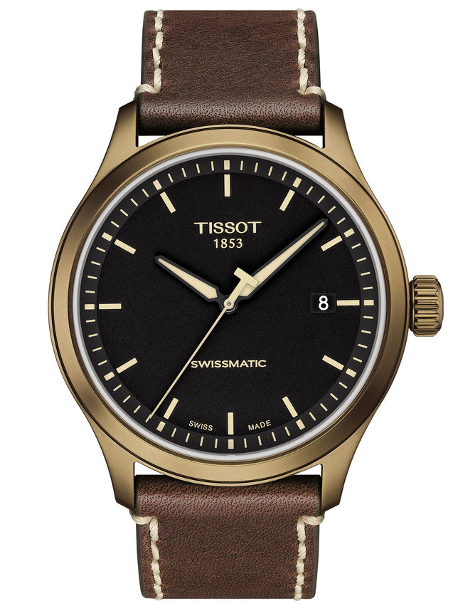 TISSOT XL AUTOMATIC Brown Leather Strap T1164073605100