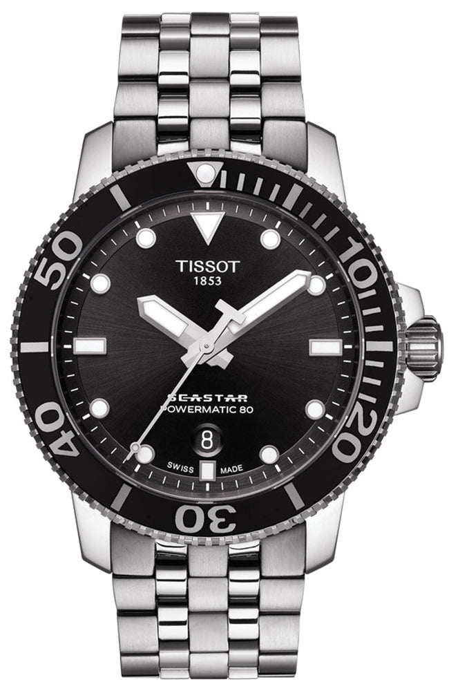 TISSOT Seastar 1000 Powermatic 80 Silver Stainless Steel Bracelet T1204071105100
