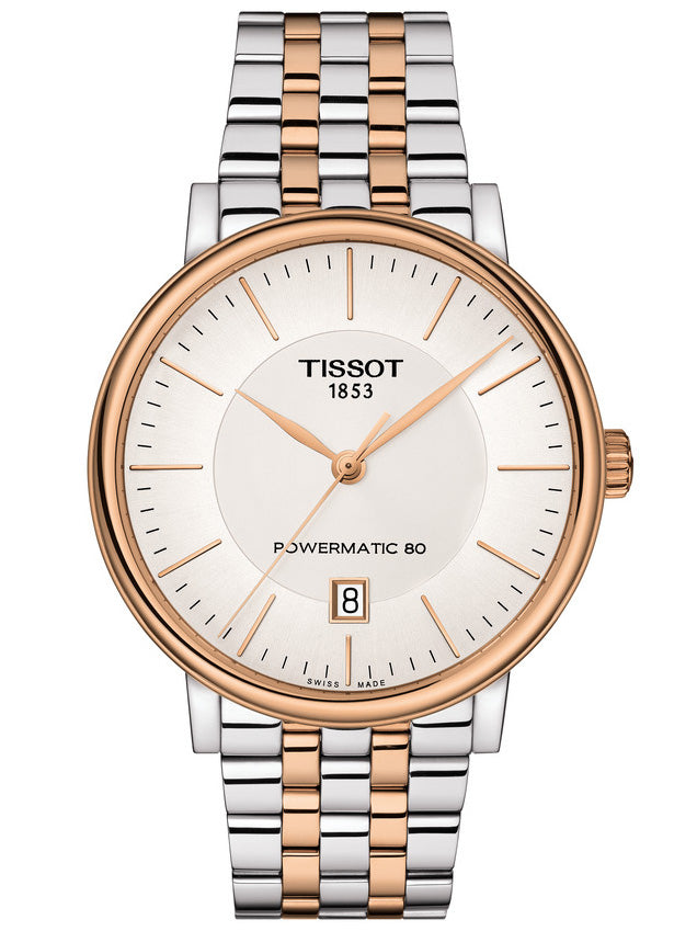 TISSOT CARSON PREMIUM POWERMATIC 80 Two Tone Stainless Steel Bracelet T1224072203101