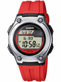 CASIO Collection Red Rubber Strap W-211-4AVES