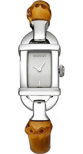 Gucci Bamboo Stainless Steel Quartz Watch YA068526