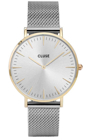 CLUSE LA BOHÈME ROSE GOLD WHITE/BLACK LIZARD CL18037